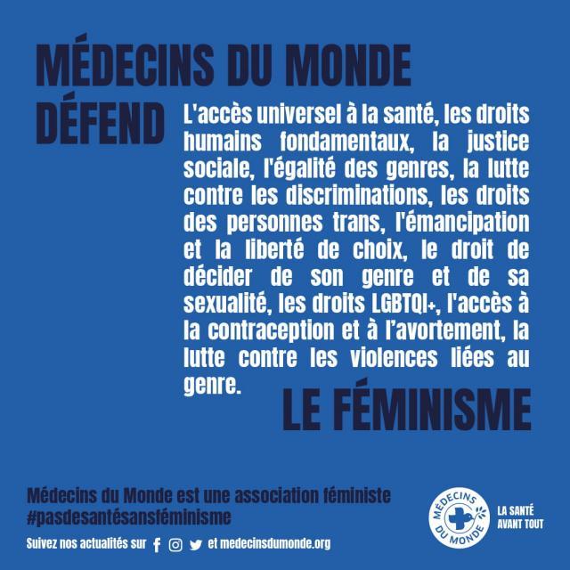 Visuel campagne #pasdesantésansféminisme